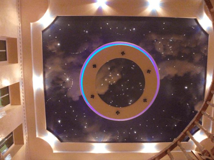 Floris.lt - įtempiamos lubos - žvaigždėtas dangus